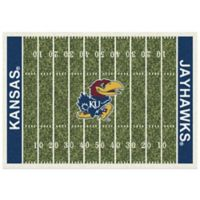 University of Kansas 7-Foot 8-Inch x 10-Foot 9-Inch Large Home Field Rug