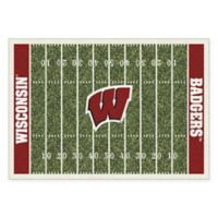 University of Wisconsin 5-Foot 4-Inch x 7-Foot 8-Inch Medium Home Field Rug