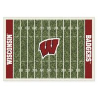 University of Wisconsin 7-Foot 8-Inch x 10-Foot 9-Inch Large Home Field Rug