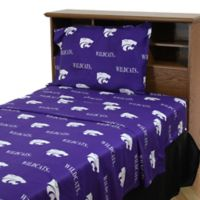 Kansas State University Queen Sheet Set