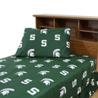 Michigan State University King Sheet Set