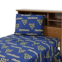 West Virginia University Twin Sheet Set