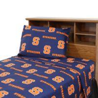 University of Syracuse Queen Sheet Set