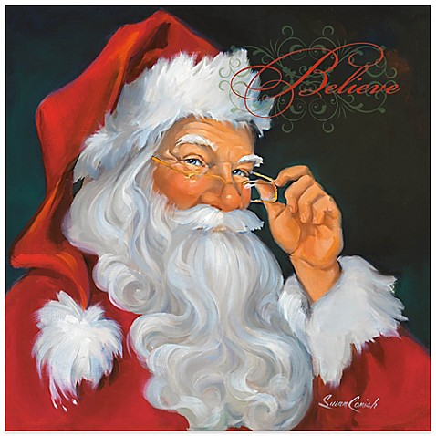 Christmas santa believe wall art
