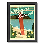 "Americanflat ""Waikiki"" Digital Print Wall Art"