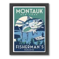 "Americanflat ""Montauk, New York, Fisherman's Paradise"" Digital Print Wall Art"