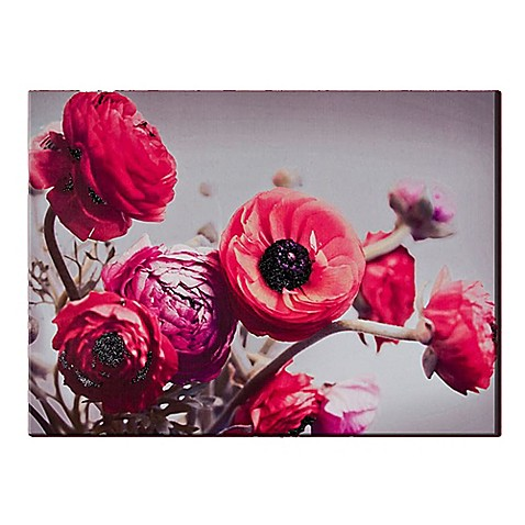 bold bouquet with glitter canvas wall art bed bath beyond