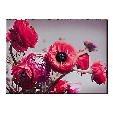 bold bouquet with glitter canvas wall art bed bath beyond