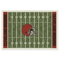 NFL Cleveland Browns 7-Foot 8-Inch x 10-Foot 9-Inch Large Home Field Rug