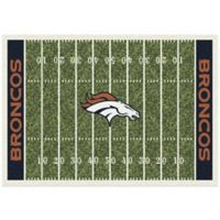 NFL Denver Broncos 3-Foot 10-Inch x 5-Foot 4-Inch Small Home Field Rug