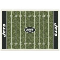 NFL New York Jets 5-Foot 4-Inch x 7-Foot 8-Inch Medium Home Field Rug