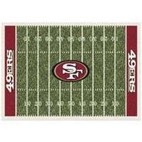 NFL San Francisco 49ers 7-Foot 8-Inch x 10-Foot 9-Inch Large Home Field Rug