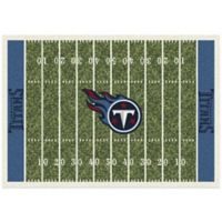 NFL Tennessee Titans 3-Foot 10-Inch x 5-Foot 4-Inch Small Home Field Rug