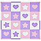 Tadpoles™ by Sleeping Partners Hearts and Stars 16-Piece Playmat Set in Pink/Lavender