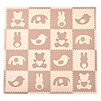 Tadpoles™ by Sleeping Partners Teddy & Friends 16-Piece Playmat Set in Brown/Cream
