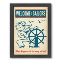 Americanflat Welcome Sailors Digital Print Wall Art