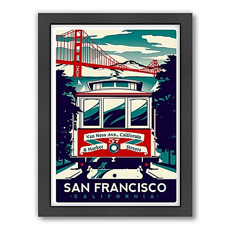 Buy americanflat san francisco trolley car digital print for Buy art san francisco