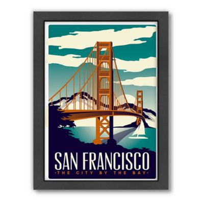 Americanflat San Francisco Bridge Digital Print Wall Art