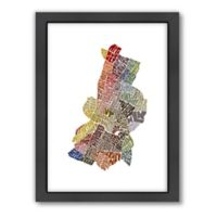 Americanflat Austin Typography Map Digital Print Wall Art in Color