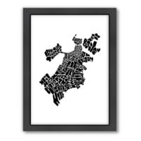 Americanflat Boston Typography Map Digital Print Wall Art in Color