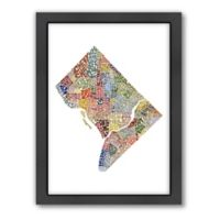 Americanflat Washington, D.C..Typography Map Digital Print Wall Art in Color