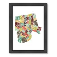 Americanflat New Orleans Typography Map Digital Print Wall Art in Color