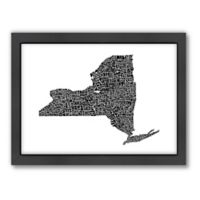 Americanflat New York City Typography Map Digital Print Wall Art in Black and White