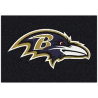 NFL Baltimore Ravens 2-Foot 8-Inch x 3-Foot 10-Inch Extra Small Team Spirit Rug