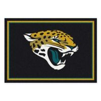 NFL Jacksonville Jaguars 7-Foot 8-Inch x 10-Foot 9-Inch Large Team Spirit Rug