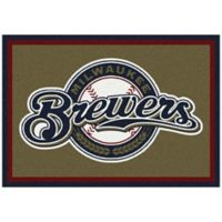 MLB Milwaukee Brewers 3-Foot 10-Inch x 5-Foot 4-Inch Small Spirit Rug