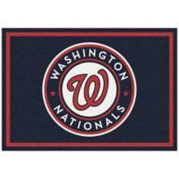 MLB Washington Nationals 5-Foot 4-Inch x 7-Foot 8-Inch Medium Spirit Rug