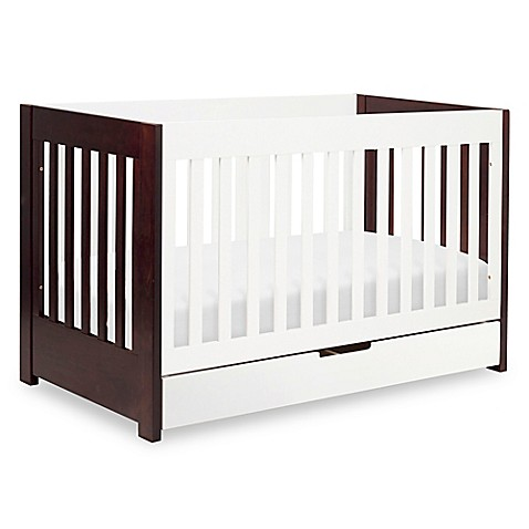 babyletto mercer 3 in 1 convertible crib in white espresso buybuy baby. Black Bedroom Furniture Sets. Home Design Ideas