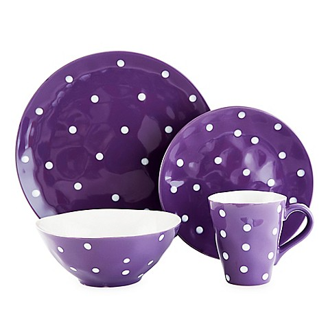 Maxwell u0026 Williams™ Sprinkle Dinnerware Collection in Purple  sc 1 st  Bed Bath u0026 Beyond & Maxwell u0026 Williams™ Sprinkle Dinnerware Collection in Purple - Bed ...