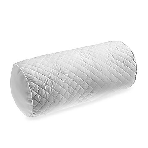 White Neckroll Decorative Pillow : Wamsutta Baratta Stitch Neckroll Throw Pillow in White - Bed Bath & Beyond