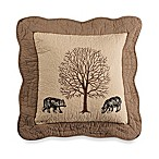 Donna Sharp Bear Creek Bear Square Throw Pillow