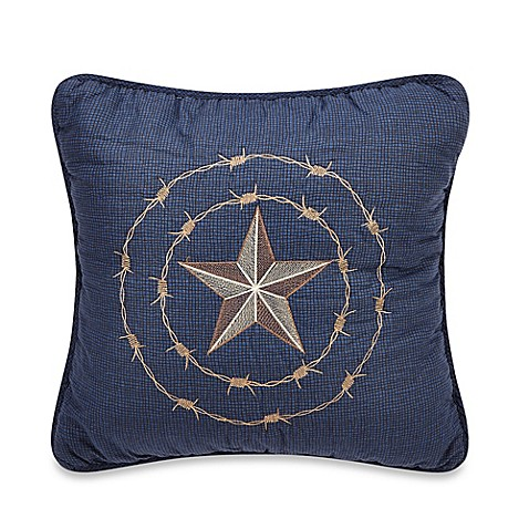 Donna Sharp True Texas Square Decorative Pillow Bed Bath