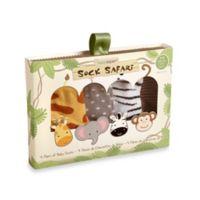 Baby Aspen Safari 4-Pair Animal-Themed Sock Set
