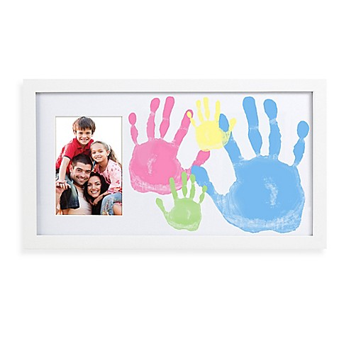 Pearhead Family Handprint & Photo Frame - Bed Bath & Beyond