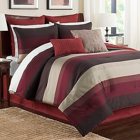Hudson Comforter Set In Red