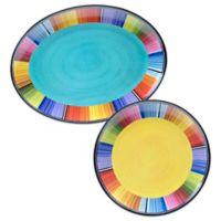 Certified International Serape 2-Piece Platter Set