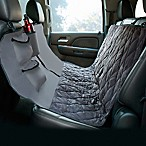 Hammock Style Deluxe Quilted Micro Suede Car Seat Protector in Grey