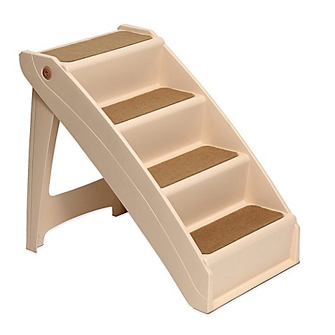 Pupstep Plus Dog Stairs With Extra Large Stairs Bed Bath
