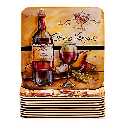 Buy certified international melamine estate wine 6 inch for Canape wines