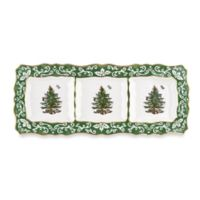 Spode® Christmas Tree Embossed 3-Section Server