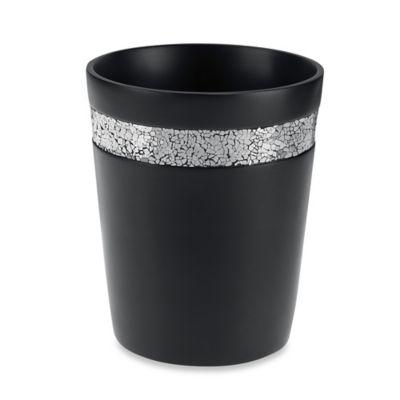 black crackle bathroom accessories. Black Crackle Wastebasket Black Crackle Bathroom Accessories  My Web Value