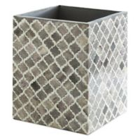 Kassatex Marrakesh Real Bone Wastebasket