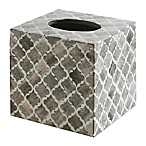 Kassatex Marrakesh Real Bone Boutique Tissue Box Cover in Grey