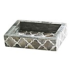 Kassatex Marrakesh Real Bone Soap Dish in Grey