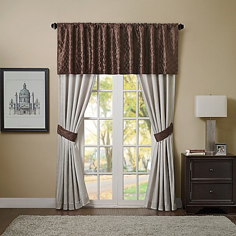 Bailey Window Curtain Panel And Valance Bed Bath Beyond