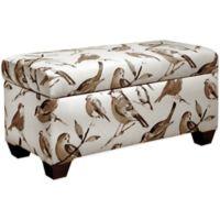 Skyline Furniture Storage Bench in Birdwatcher Charcoal